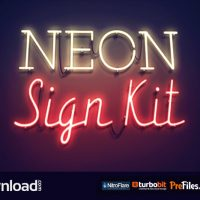 NEON SIGN KIT (VIDEOHIVE) AFTER EFFECTS TEMPLATE – FREE DOWNLOAD
