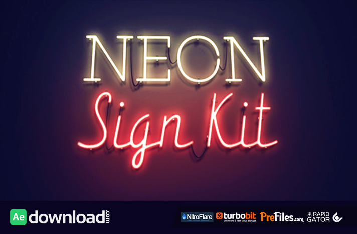 Neon Sign Kit Free Download After Effects Templates