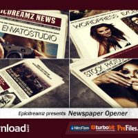 VIDEOHIVE NEWSPAPER OPENER – FREE DOWNLOAD