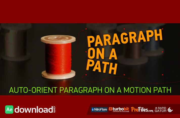 PARAGRAPH ON A PATH Free Download After Effects Templates