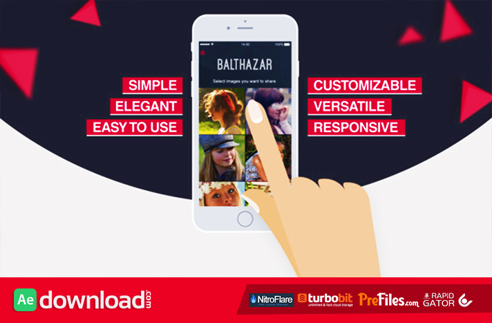 Parallax Mobile App Video Presentation Free Download After Effects Templates