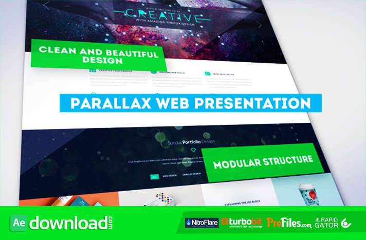 Parallax Web Presentation Free Download After Effects Templates