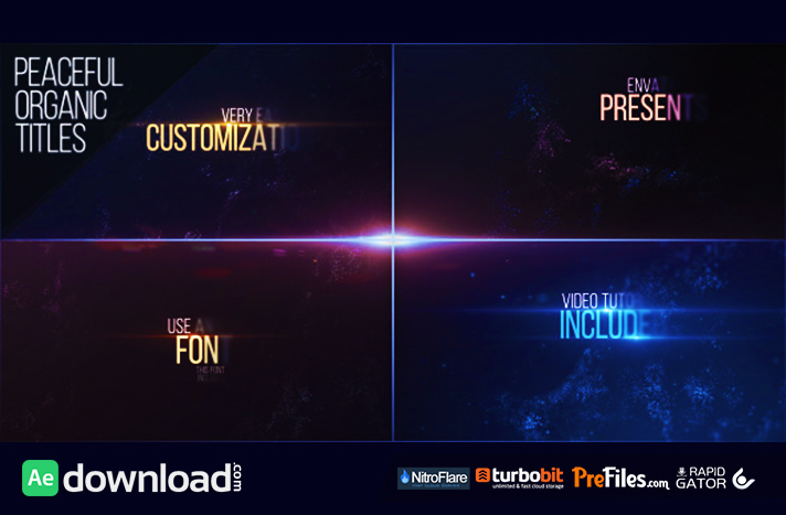 Peaceful organic titles videohive free download free for Free after effects title templates