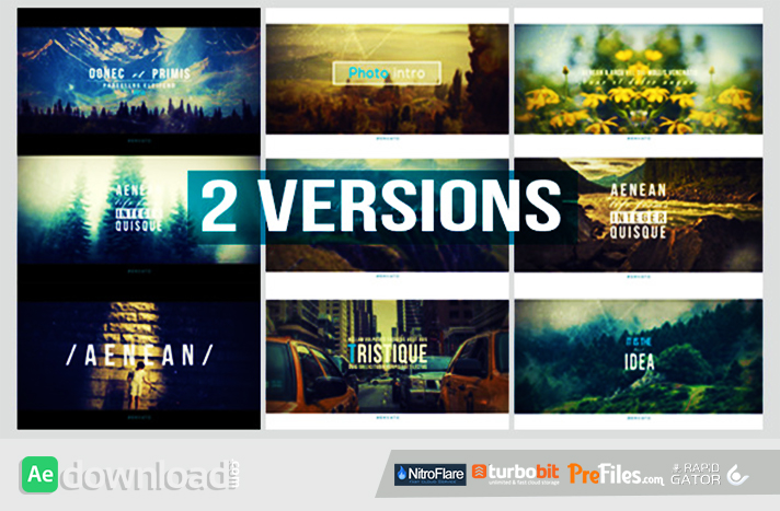 Photo Intro Free Download After Effects Templates
