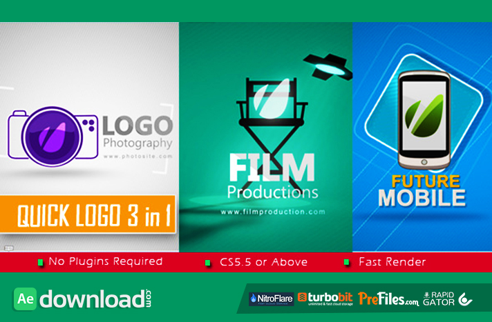 Quick Logo 3 in 1 Free Download After Effects Templates