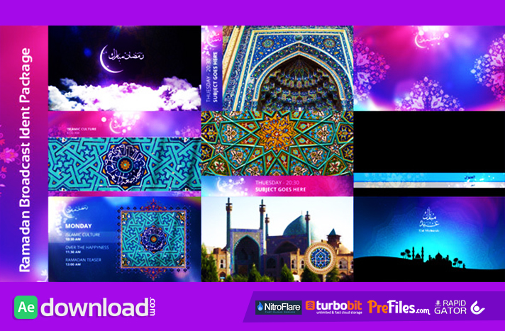 Ramadan Broadcast Ident Package Free Download After Effects Templates