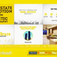 REAL ESTATE PROMOTION WITH KINETIC TYPOGRAPHY (VIDEOHIVE PROJECT) – FREE DOWNLOAD