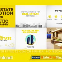 Real Estate Promotion With Kinetic Typography – (VIDEOHIVE TEMPLATE) – FREE DOWNLOAD