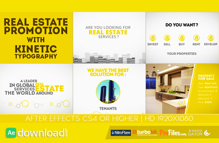 Real Estate Promotion With Kinetic Typography Free Download After Effects Templates