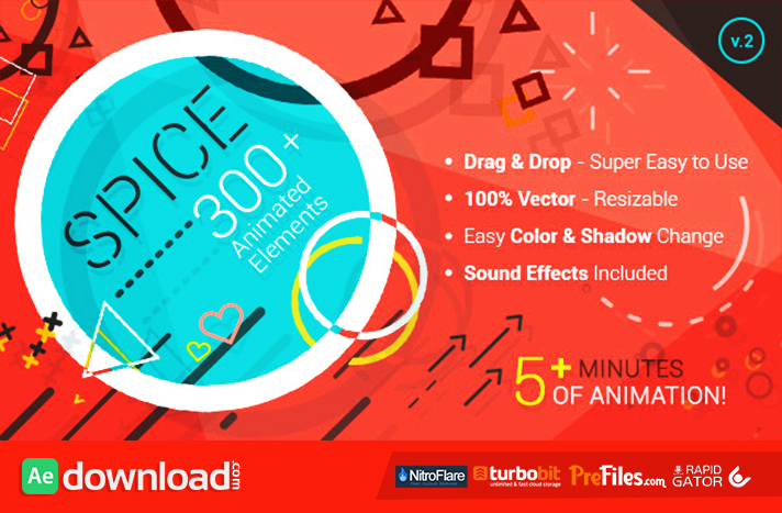 SPICE - 300+ ANIMATED ELEMENTS - (VIDEOHIVE TEMPLATE) - FREE