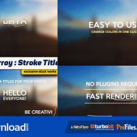 STROKE TITLES – AFTER EFFECTS PROJECTS (MOTION ARRAY)