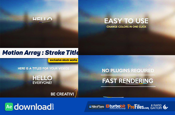 STROKE TITLES - AFTER EFFECTS PROJECTS (MOTION ARRAY) Free Download After Effects Templates