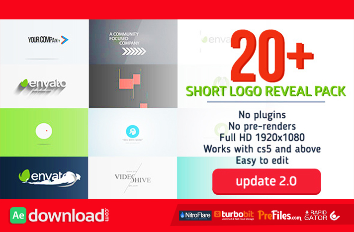 Short Logo Reveal Pack Free Download After Effects Templates