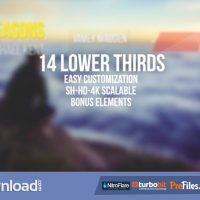 VIDEOHIVE SIMPLE CLEAN LOWER THIRDS  – FREE DOWNLOAD