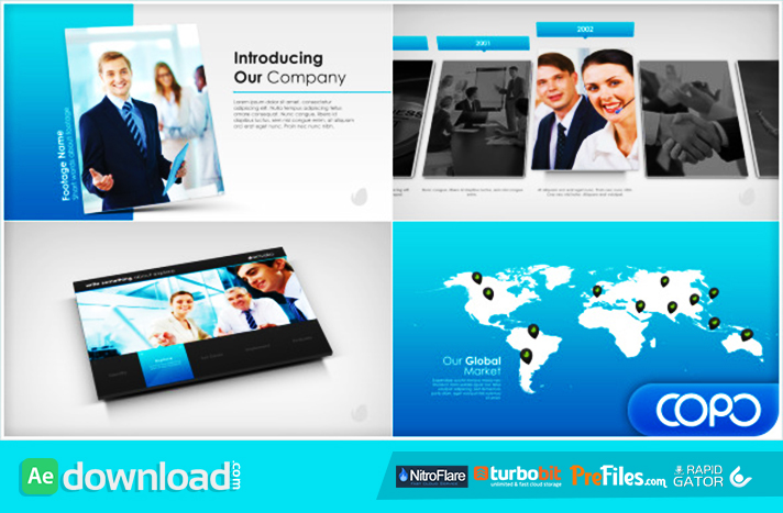 Simple Company Presentation Free Download After Effects Templates