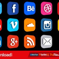 VIDEOHIVE SOCIAL LOGOS AND LOWER THIRD – FREE DOWNLOAD