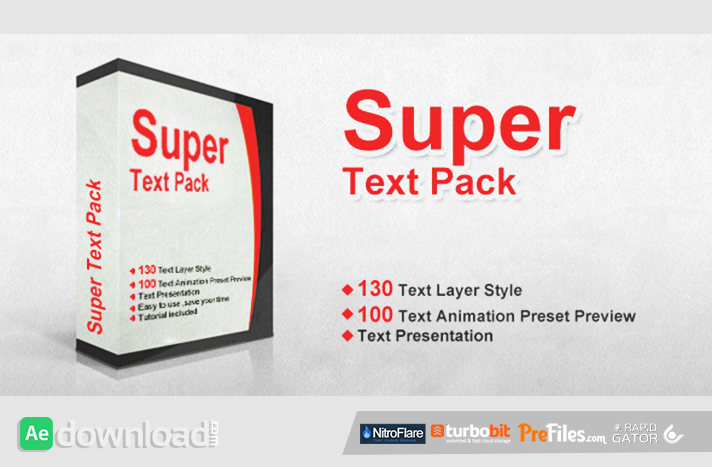 super text pack free download after effects templates