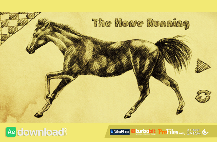 THE HORSE RUNNING Free Download After Effects Templates