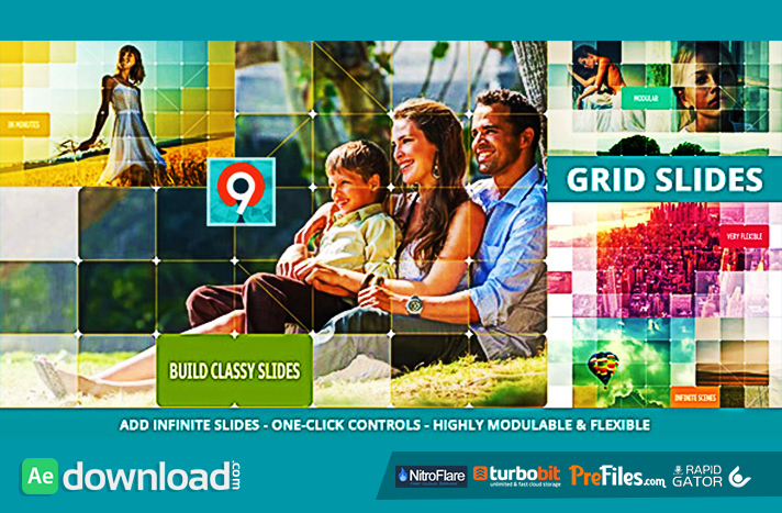 The Grid Slides Builder Free Download After Effects Templates