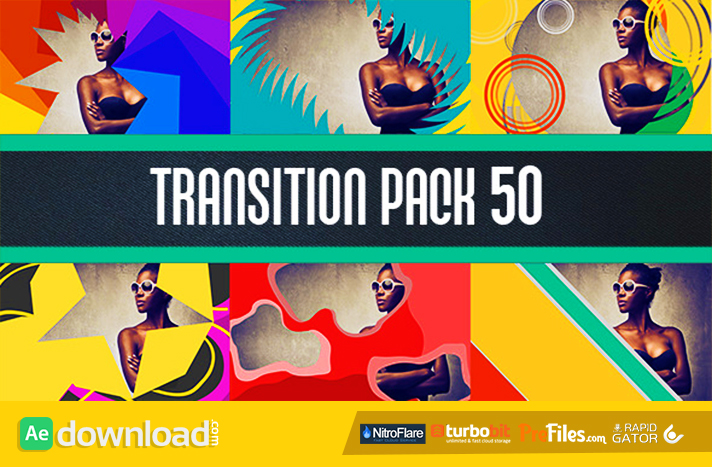 Transition pack 50 Free Download After Effects Templates
