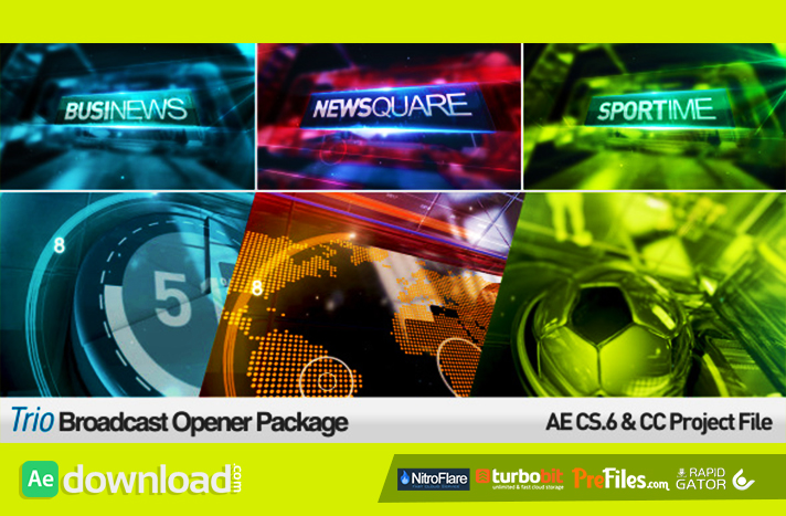 Trio Broadcast Openers Package Free Download After Effects Templates