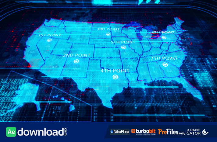 Usa map videohive free download free after effects template usa map free download after effects templates gumiabroncs Image collections