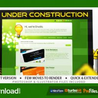 UNDER CONSTRUCTION – (VIDEOHIVE TEMPLATE) – FREE DOWNLOAD