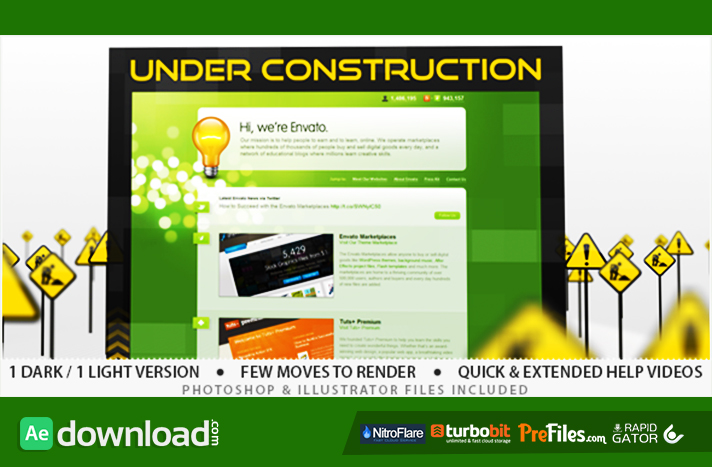 Under Construction Free Download After Effects Templates
