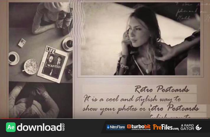 VIDEOHIVE RETRO POSTCARDS - AFTER EFFECTS TEMPLATES Free Download After Effects Templates
