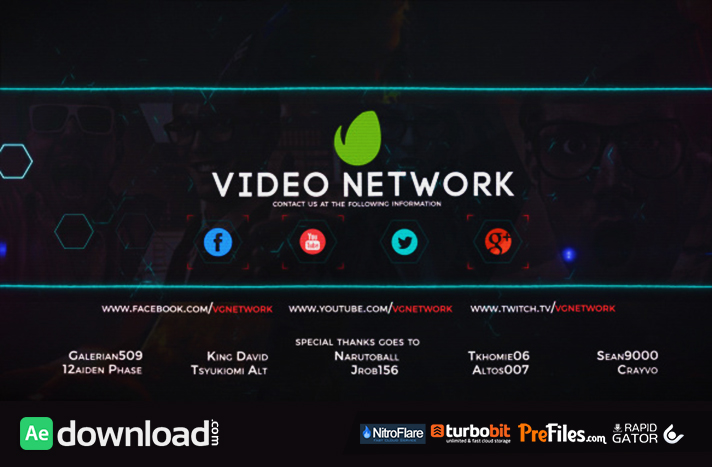 Video Game Network Broadcast Package Free Download After Effects Templates