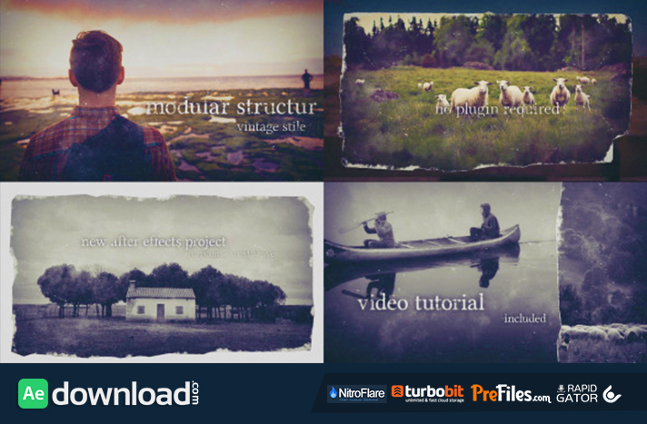 Vintage Frames - Old Photo Free Download After Effects Templates