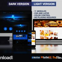 WEBSITE PRESENTATION (DARK & LIGHT) (VIDEOHIVE PROJECT) – FREE DOWNLOAD