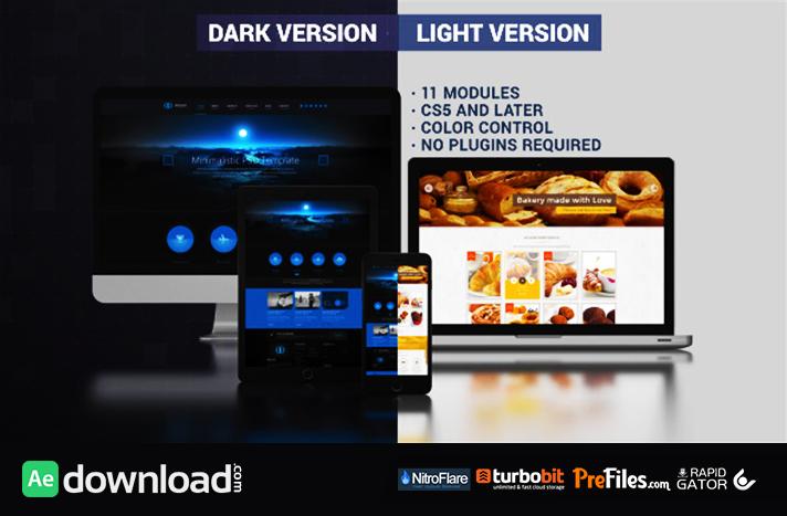 Website Presentation (Dark & Light) Free Download After Effects Templates