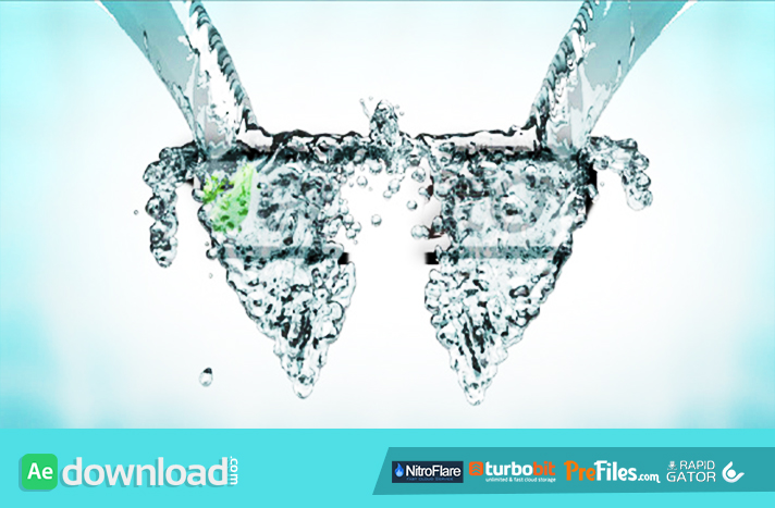 water splash logo Reveal Free Download After Effects Templates