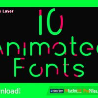 10 ANIMATED FONTS (VIDEOHIVE PROJECT) FREE DOWNLOAD