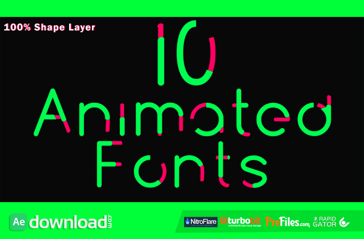 10 Animated Fonts