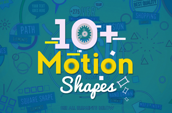 10 Motion Shapes Free After Effects Templates