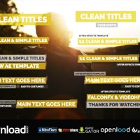 11 MINIMAL TITLES (VIDEOHIVE PROJECT) FREE DOWNLOAD