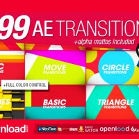 165 TRANSITIONS PACK V1 FREE VIDEOHIVE TEMPLATE