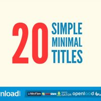 20 SIMPLE MINIMAL TITLES (VIDEOHIVE PROJECT) FREE DOWNLOAD