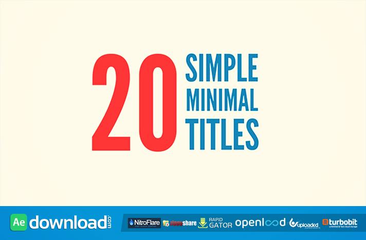 20 Simple Minimal Titles