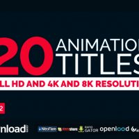 20 TITLE ANIMATION VIDEOHIVE TEMPLATE FREE DOWNLOAD