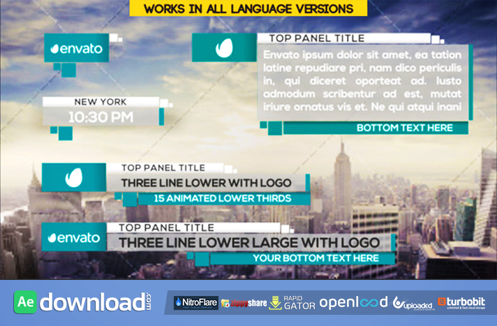 21 Clean Lower Thirds free download (videohive template)