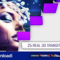 25 3D TRANSITIONS PACK (VIDEOHIVE PROJECT) FREE DOWNLOAD