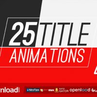 22 TITLE ANIMATIONS (VIDEOHIVE PROJECT) FREE DOWNLOAD