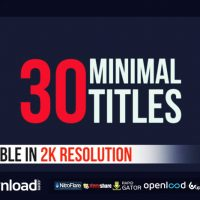 30 MINIMAL TITLES FREE DOWNLOAD| VIDEOHIVE TEMPLATE