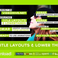 30 TEXT LAYOUTS & LOWER THIRDS – FREE VIDEOHIVE TEMPLATE