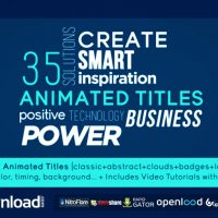 35 ANIMATED TITLES (VIDEOHIVE PROJECT) FREE DOWNLOAD