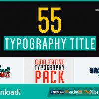 55 QUALITATIVE TYPOGRAPHY (VIDEOHIVE PROJECT) FREE DOWNLOAD