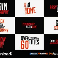 60 TITLE ANIMATIONS (VIDEOHIVE PROJECT) FREE DOWNLOAD